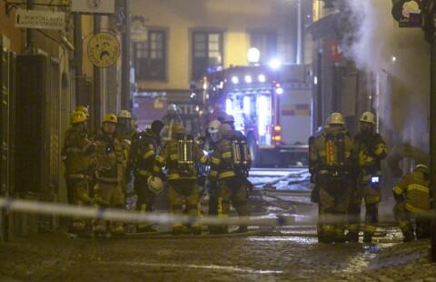 Kraftig brann i Stockholm