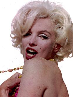 BLOND: Marilyn Monroe.