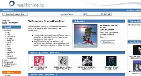 MYE NORSK: Musikkonline.no tilbyr et bredt utvalg av norsk musikk.
