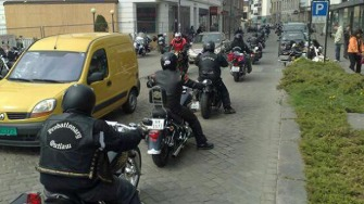 GANGBANGER: Police raid the Coffin Cheaters motorcycle gang