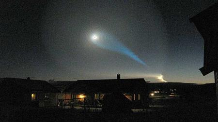 Dette kunne folk i Nord-Norge observerer like før klokken åtte onsdag morgen.