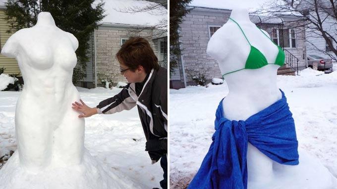 Når skulptur fremstår med for mye nakenhet, da er moralen der! thumbnail