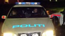 Politiet stoppet bil med blålys