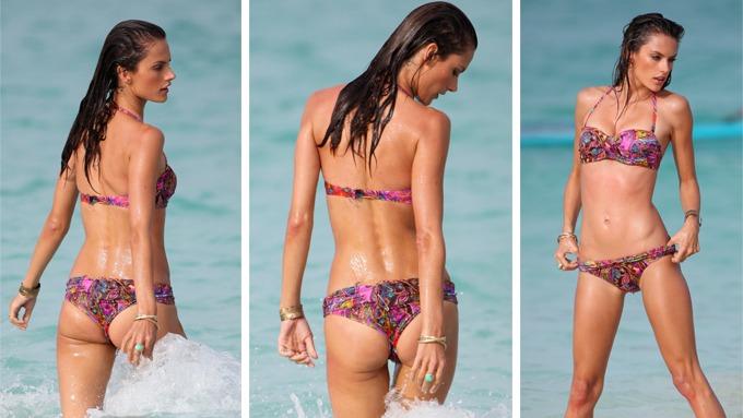 Alessandra Ambrosio kastet klærne, men er enda alt for tynn! thumbnail