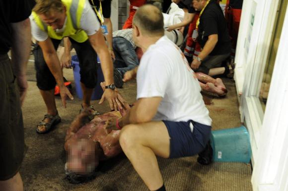 Tragisk at en fyrer opp under så kraftig at menneskeliv går tapt når man avholder VM i sauna! thumbnail