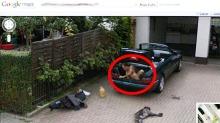Hva gjør den nakne mannen i Mercedes-bagasjerommet?