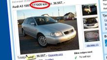 Denne Audien hadde plutselig gått 21 000 km kortere