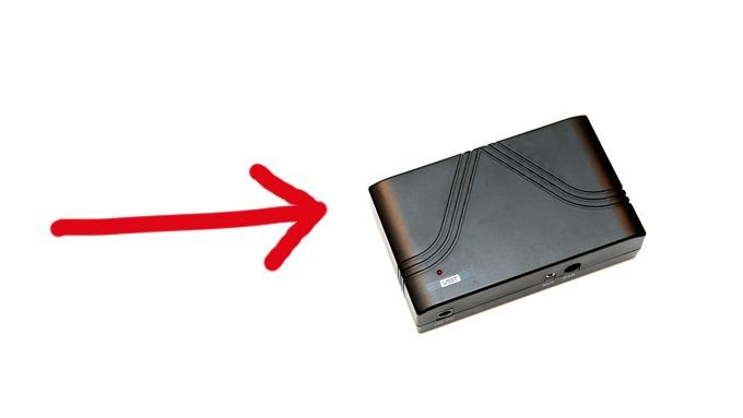 Denne boksen kan kobles mellom antennen og den gamle radioen i bilen din. Den vil konvertere digitale signaler til analoge, slik at du kan høre radio i fremtiden. Foto: Egill J. Danielsen
