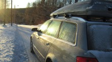 Så mye mer bruker bilen med skiboks på taket