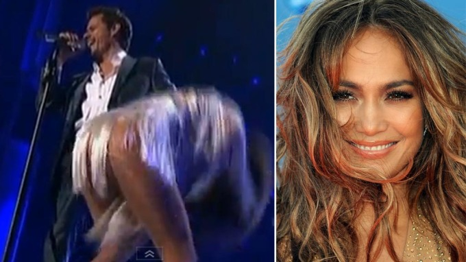 Jennifer Lopez og Marc Anthony opptrådde sammen, J. Lo ristet vilt på sin fristende rumpe! thumbnail