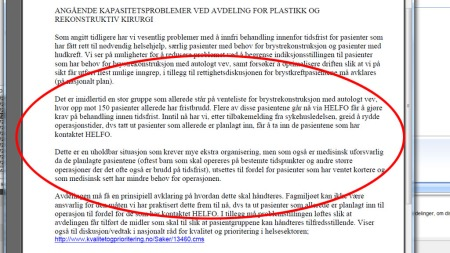 GREIT Å RYDDE: Mailkorrespondansen TV 2 har fått tilgang til viser hvordan OUS rydder plass til pasienter som har klaget.