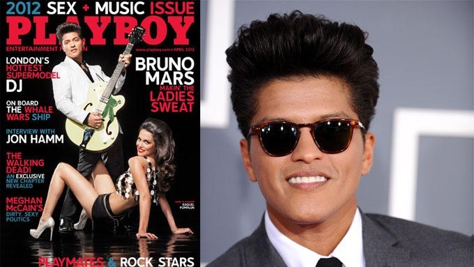 Bruno Mars er den tiende mannen til å pryde coveret av Playboy, og skriver med dette historie, fløtepus! thumbnail