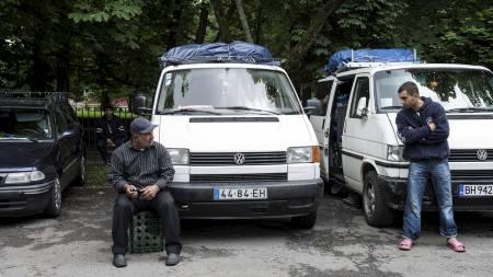 LEIR: Et hundretalls rumenere og bulgarere har slått leir ved Sofienberg kirke.