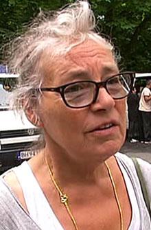 - INGEN PROBLEMER: Pensjonisten Sigrid bor like ved Sofienberg kirke. Hun har ikke opplevd problemer med romfolket som naboer.
