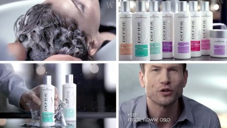 BARE PÅ TV: Define-frisør Halvor Holte (Hebbe) anbefaler Define i reklamen, men ikke til oss.