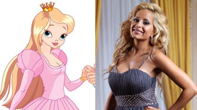 SER DU LIKHETEN? Linni Meister sammenlignet seg selv med prinsessene i Disney-filmene da hun var liten fordi de hadde store øyne med lange vipper og lys stemme.