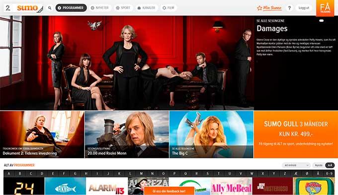 Nye TV 2 Sumo beta