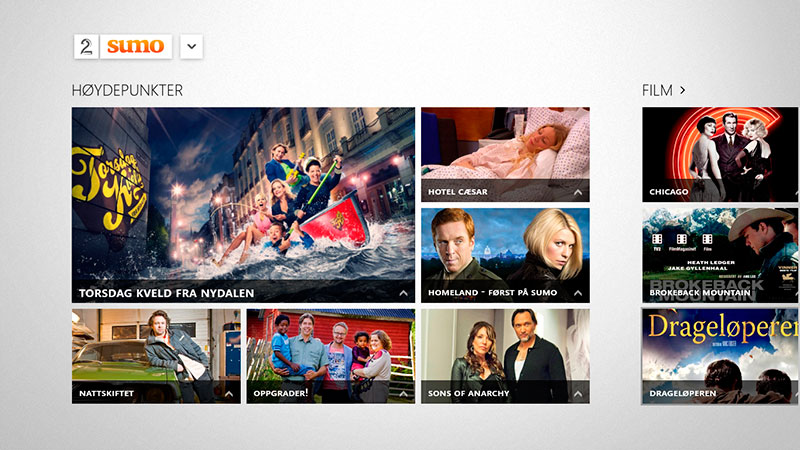 TV 2 Sumo på Windows 8
