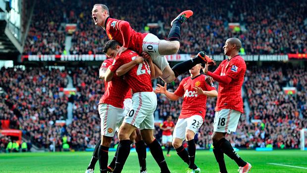 Manchester United feirer mål