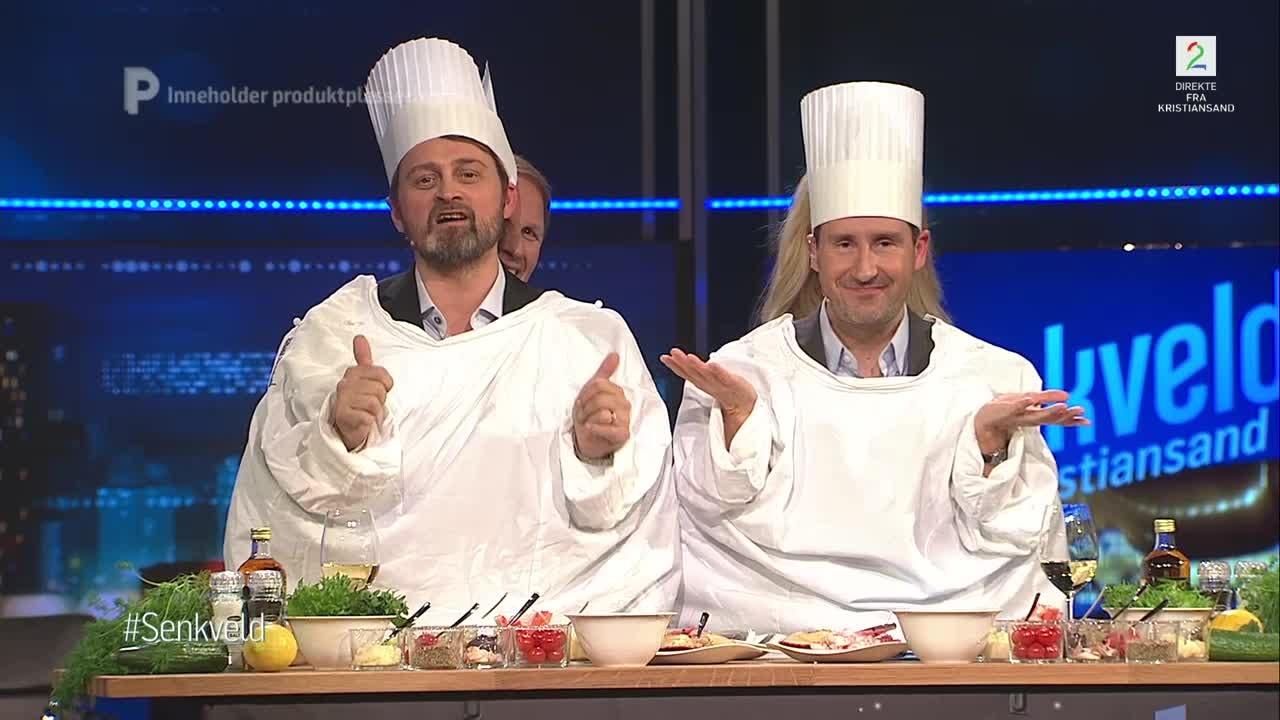 Bilde for: Thomas og Harald fikk uventet hjelp på kjøkkenet!