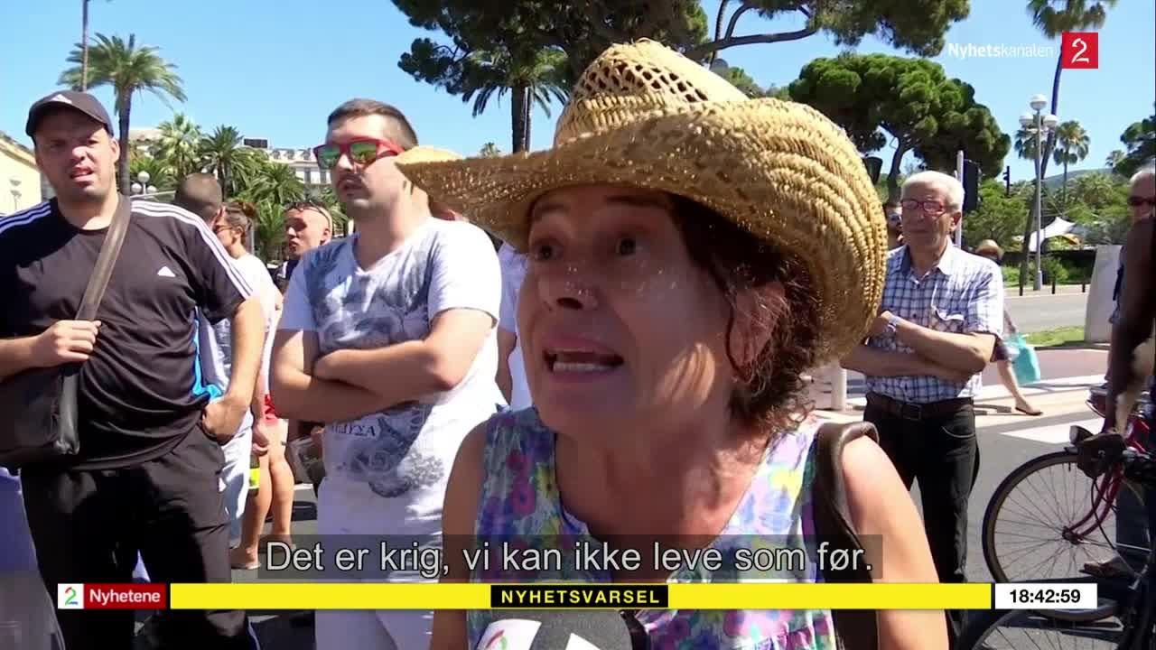 Bilde for: Ampert under TV 2-intervju i Nice: – Det er krig, vi kan ikke leve som før