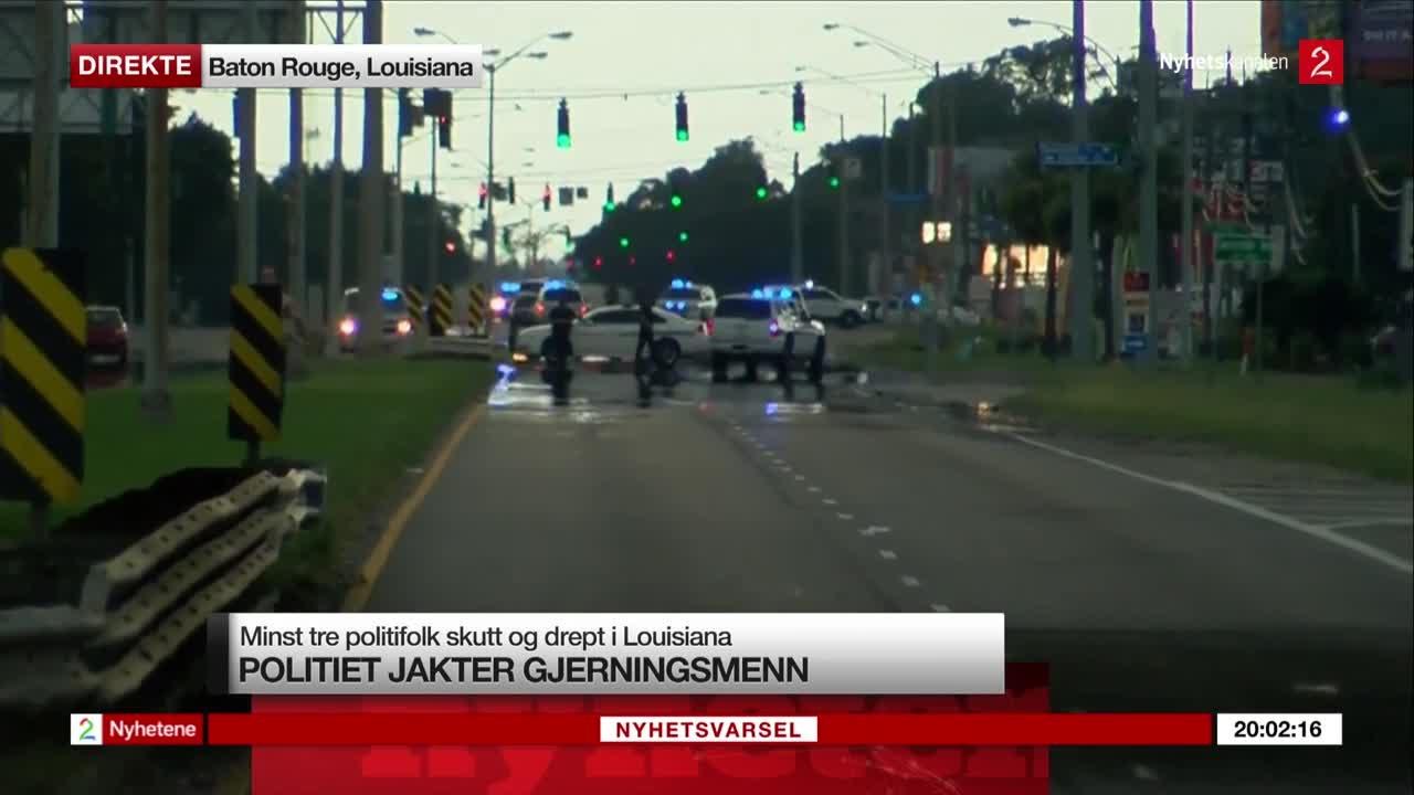 Bilde for: Politifolk skutt i Baton Rouge: Få siste nytt her og se fra åstedet