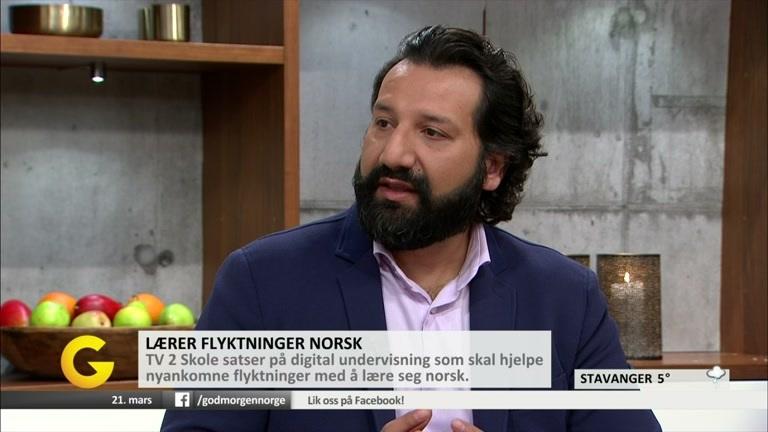 Kadafi Zaman og Hilde Strømsjorde i God morgen Norge