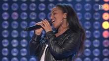 Makeda Dyhre på blind audition i The Voice