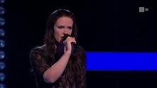 Frida Natland på blind audition i The Voice